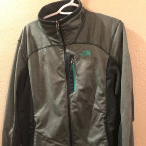 Green unisex north face jacket